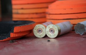 orange clay targets
