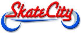 SkateCity red and blue logo