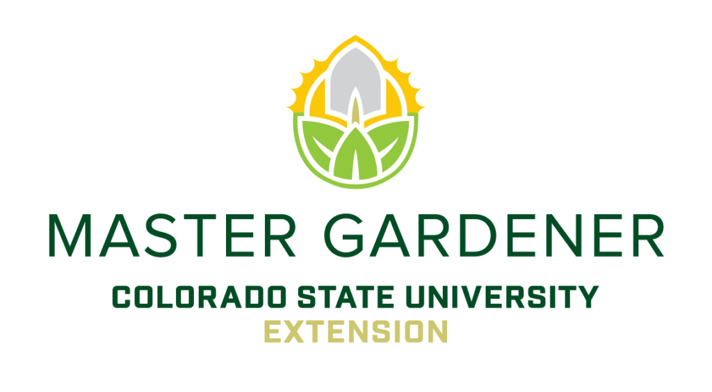 master gardener colorado state university extension with green and yellow logo