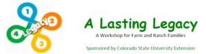 orange and green logo a lasting legacy workshop for farmers