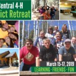 collage fo three picture with people, one with a pool table, an one with a picture of the Golden Bells retreat center