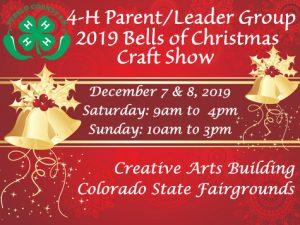 red background gold bells pueblo county 4Hlogo
