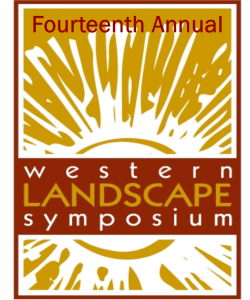 Red and yellow logo 14th annual western landscape symposium