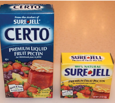 box of certo and sure jell