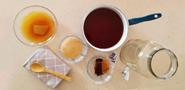 tea teacup wooden spoon