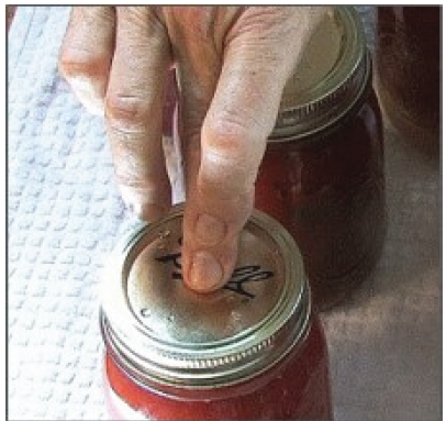 testing canning lid