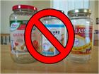 regular jars with red line through them