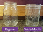 regular and wide mouth jars