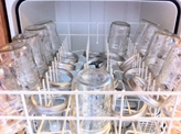 canning jars in dishwasher