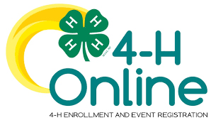 4-H online logo with 4-H clover