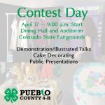 contest day april 17 background includes a cake and a table setting