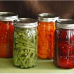 home canned green beans, carrots, tomato sauce, beets