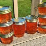 eight jars of peach jelley
